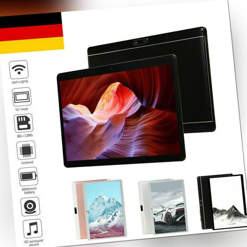 "10.1"" Tablet PC HD Android 9.0 8+128G Dual Kamera WIFI WLAN SIM Phablet Tablette"