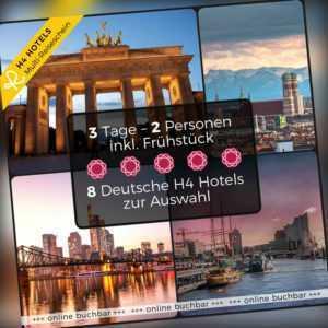 Kurzurlaub 3 Tage 2 Personen 1 Multi Hotelgutschein 8 H4 Luxus Hotels zur Wahl