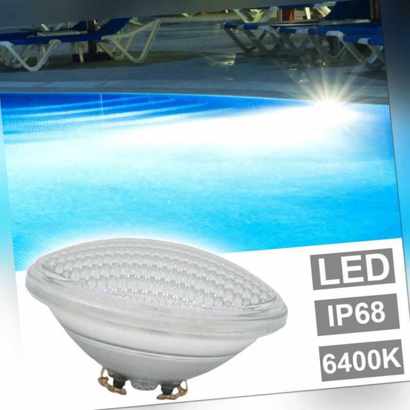 LED Schwimm Becken Bad Beleuchtung Tages-Licht Pool Leuchtmittel PAR56 6400K