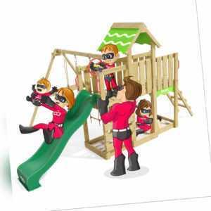 Spielturm Klettergerüst Playful Heroows - Schaukelgestell mit Kletterwand
