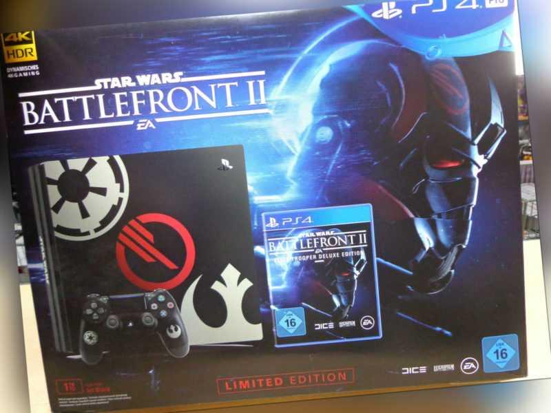Sony Playstation 4 Pro Konsole - Star Wars Battlefront II (2) Edition (mit OVP)