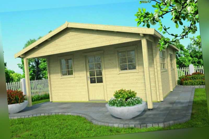 70 mm Gartenhaus ca. 534x540 cm Blockhaus Schuppen Holzhaus Gerätehaus