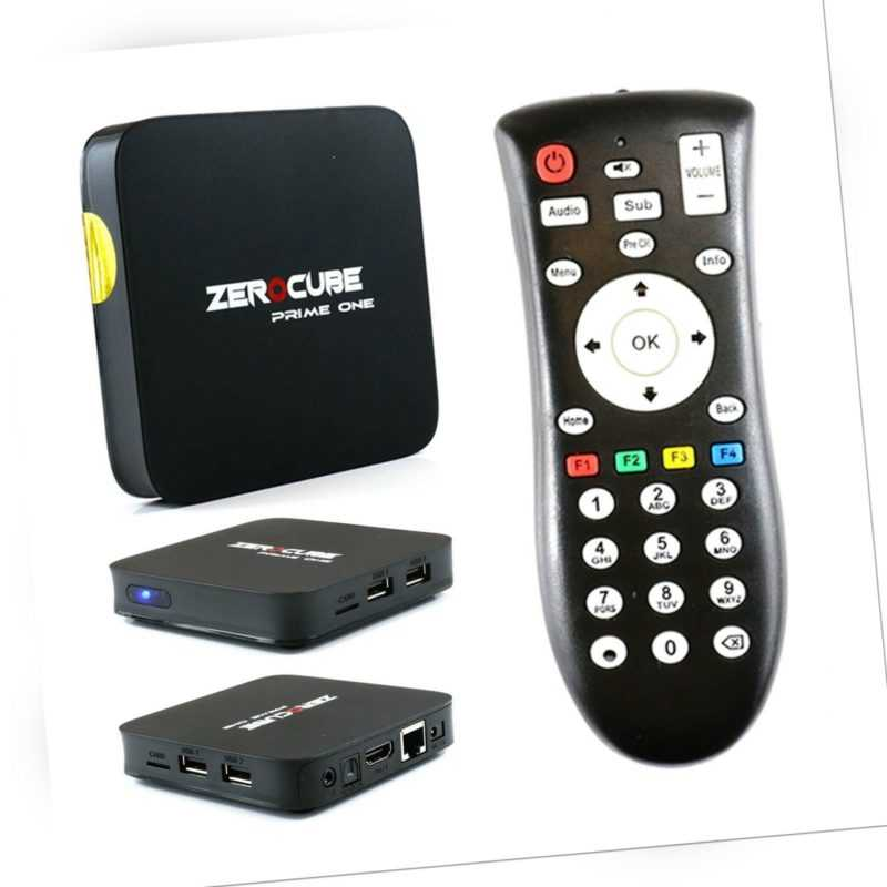 ZeroCube Prime One 4K UHD Android 7 TV IP Media Player Wlan Box Schwarz