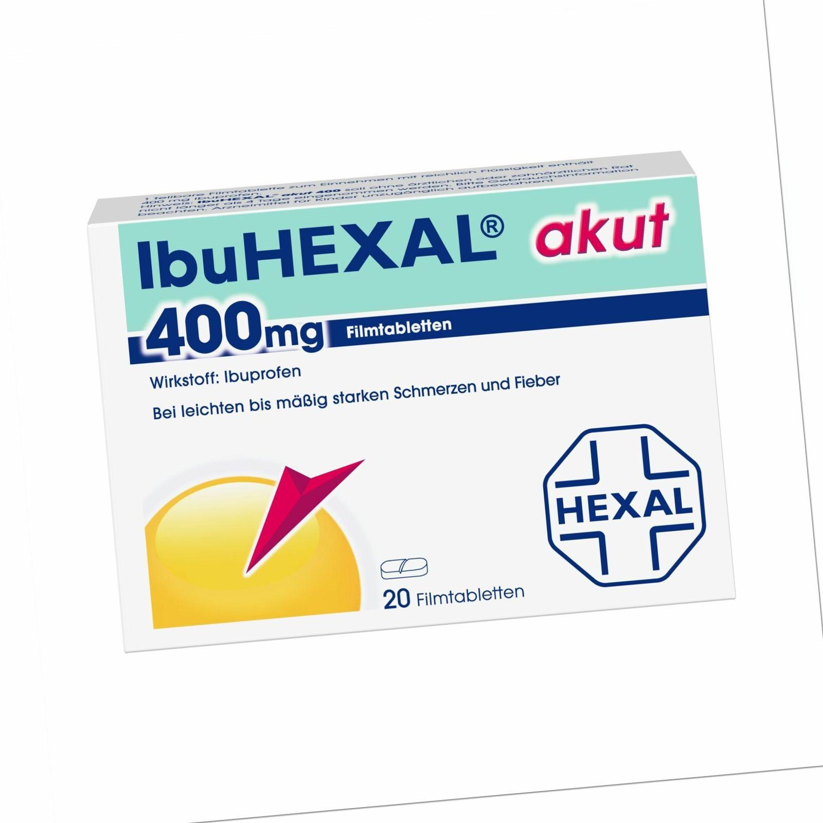 IbuHEXAL akut 400 mg, 20 St. Tabletten 68972