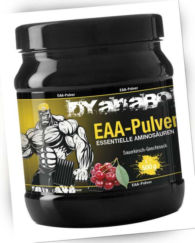 Dyanabol EAA 500g Dose Powder Pulver Aminosäuren Pulver Geschmack Muskelaufbau