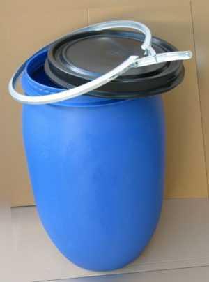 Kunststofffass, Regentonne, blau 120 l