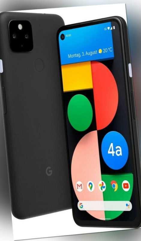 GOOGLE Pixel 4a 5G 128 GB 6,2 Zoll 6GB RAM 16 MP Dual-Kamera eSIM schwarz B-WARE