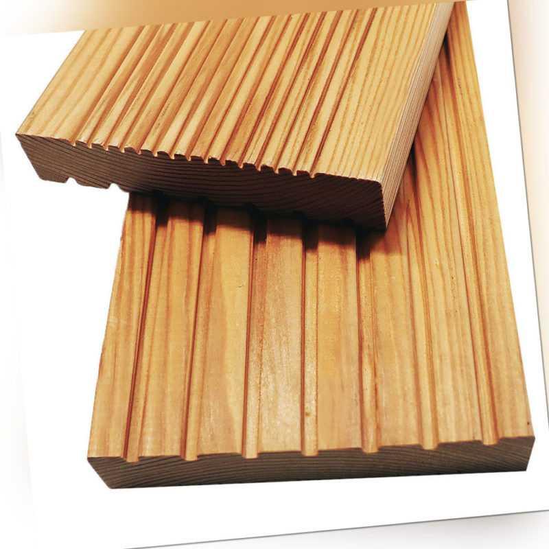 Sibrische Lärche Terrassendiele Terrassenboden Terrasse Massivholzdielen Robust
