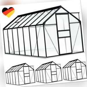 Gewächshaus mit Fundamentrahmen 3,61 m³ - 8,17 m³ Treibhaus Garten Tomatenhaus