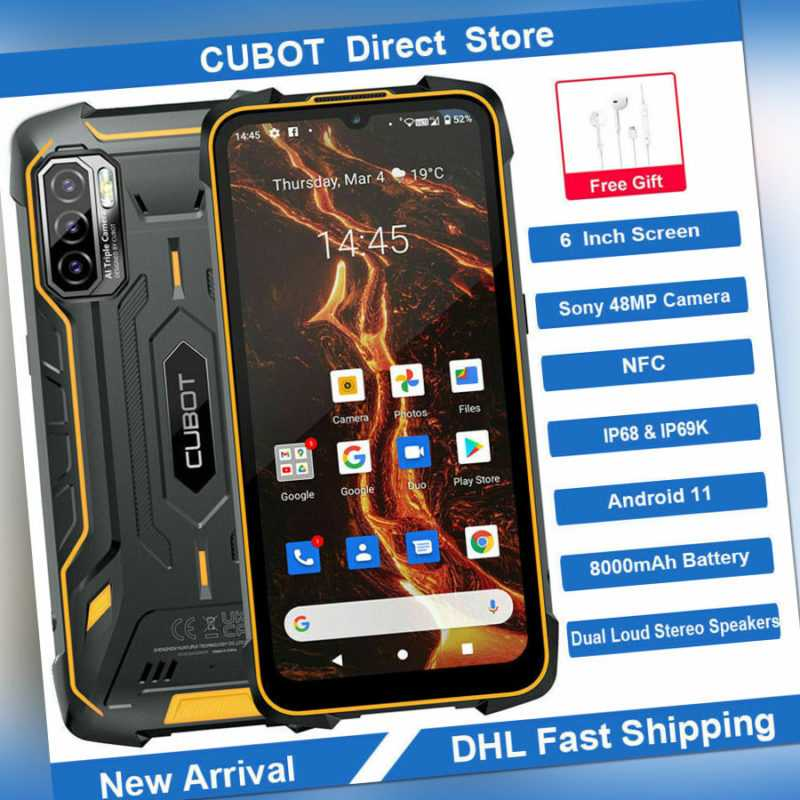 "6"" CUBOT KINGKONG 5 Pro 64GB Smartphone Handy IP68 4G NFC 8000mAh 48MP Android11"