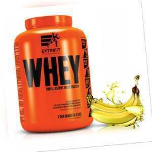 Extrifit Whey Protein 2 kg Banane Eiweiß Pulver Shake Aminosäuren Muskelaufbau