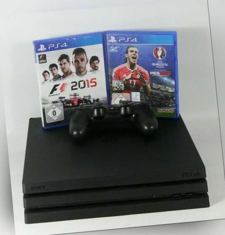 Playstation 4 Pro 1TB CUH-7016B Spielkonsole PS4 Pro + 1x Controller & 2x Spiele