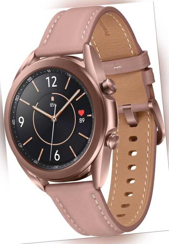 Samsung Galaxy Watch 3 SM-R850 mystic bronze 41mm rund Tizen kompakt Smartwatch