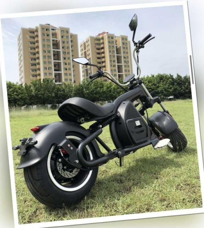 E - Scooter E Chopper Elektro Moped Citycoco 60km Harley 45 km/h mit STVO