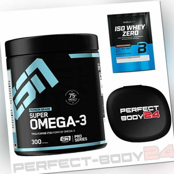 ESN Premium Grade Super Omega-3 Fettsäuren 300 Caps Mineralien Fitness Sport