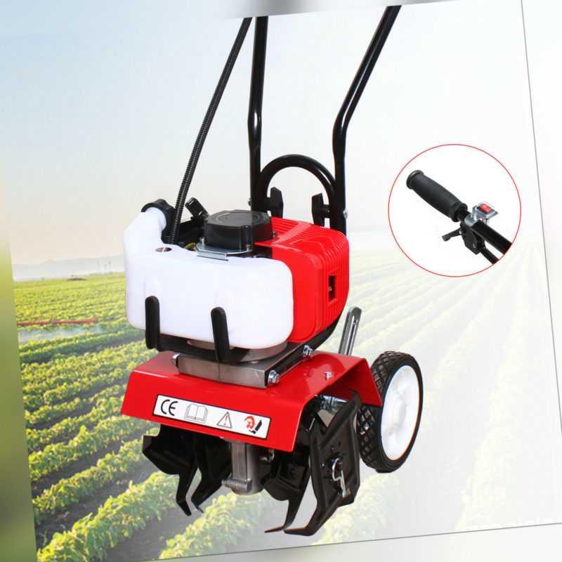 2-Takt 52CC Benzin Motorhacke Gartenhacke Boden Fräse Hacke Kultivator 1.9kW DE
