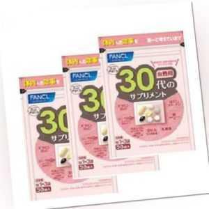 FANCL Für 30's Nahrungsergänzungsmittel 30-90 Tage X (3 Packs)