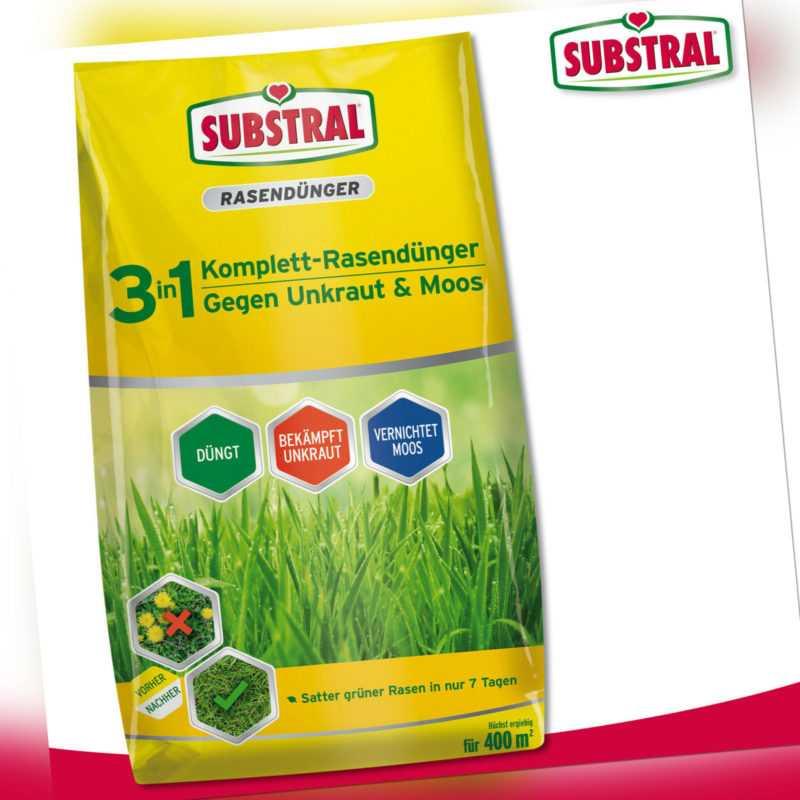 Substral 14 kg 3in1 Komplett-Rasendünger gegen Unkraut & Moos