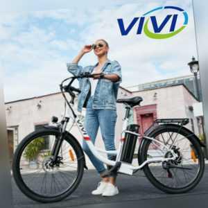 VIVI E-Bike Elektrofahrrad 26 Zoll Pedelec 350W Retro Citybike Shimano 7-Gang DE