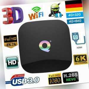 4G+32G/4G+64G 2.4G 6K Q Plus Smart TV Box Android9.0 Quad Core WiFi Media Player