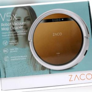 Zaco V5x Saugroboter Wischroboter, App & Alexa Steuerung, Ladestation, WLAN