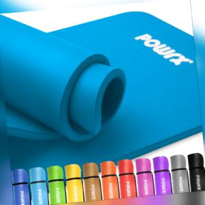 POWRX Gymnastikmatte Yogamatte Trainingsmatte Fitness inkl. Workout I 183x60x1cm