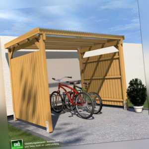 Unterstand 3x2.5 mit 2-seitigem Wetterschutz Fahrrad, Überdachung, Gartengeräte