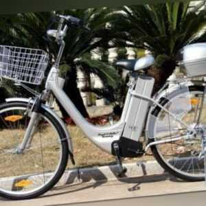 "Damen City bike Neu Elektrofahrrad 250W / 36V E-Bike 26"" Zoll Silber od. Schwarz"