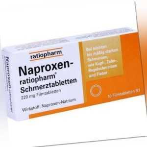 NAPROXEN-ratiopharm Schmerztabl. Filmtabletten 10 St PZN 2220326