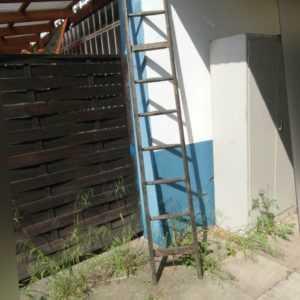 Leiter Antik Stil Weichholz Industrieleiter Loft Vintage Stufen Treppe A1