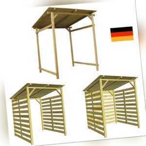 Unterstand Überdachung für Gartengeräte, Grill, Brennholz oder Fahrräder Holz DE