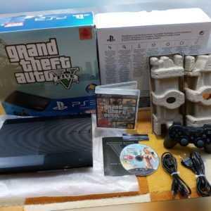 Sony Playstation 3 Super Slim Grand Theft Auto V 500GB Charcoal Black(PAL) USK18