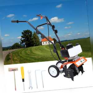2-Takt 1650W  Benzin Gartenhacke Motorhacke Bodenfräse Kultivator Fräse Hacke