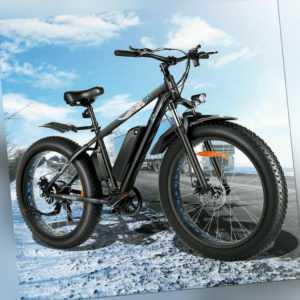 Elektrofahrrad Mountainbike 500W E-bike 26Zoll Ebike Shimano Pedelec 7-Gänge 48V