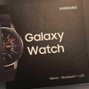 SAMSUNG Galaxy Watch SM-R805 46 mm Bluetooth + LTE Smartwatch Edelstahl Silber
