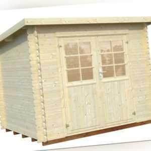 28 mm Gartenhaus Mary 1 / Lyon 0 Gerätehaus Schuppen Blockhaus ca. 270 x 220 cm