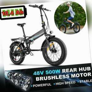 E-bike Mountainbike Elektrofahrrad 20 Zoll Klapprad E-Fahrrad  7-Gang 48V/10.4Ah