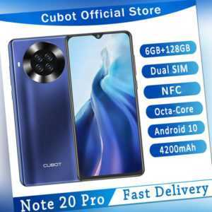 """6,5"""" Cubot Note 20 Pro 4G Dual SIM NFC Handy 6+128GB Smartphone Android Face ID"""