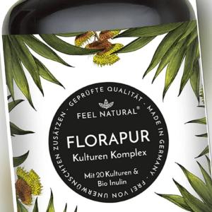 Florapur Kulturen Komplex - 20 Bakterienkulturen & Bio Inulin - (180 vegane Kaps