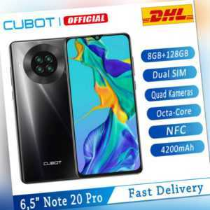 """6,5"""" Cubot Note 20 Pro 4G Dual SIM NFC Handy 8+128GB Smartphone 4200mAh Android"""