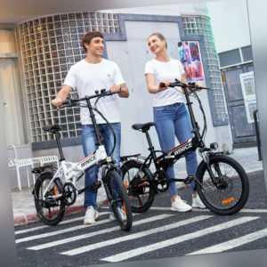 Faltbares Elektrofahrrad Citybike 20 Zoll E-Bike Pedelec Trekkingrad Klappbar EU