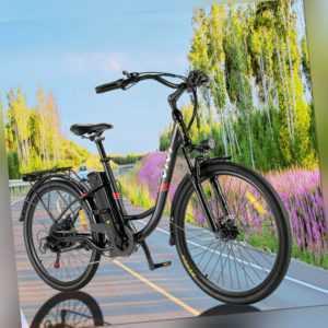 VIVI 26'' Elektrofahrrad Mountainbike E-Bike 350W 7 Gang Citybike Retro Pedelec
