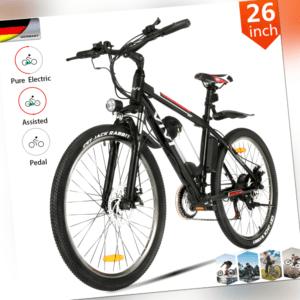 Ebike 26'' Elektrofahrrad Mountainbike Citybike Pedelec Shimano 21Gang 350W Neue