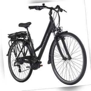 E-Bike 28 Zoll Adore Damen Marseille schwarz 250 Watt Li-Ion 36 V/13 Ah 115E