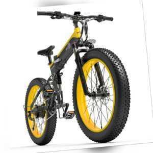 26 Zoll BEZIOR 1000W Falten Elektrofahrrad Moped E-Bike 12.8AH Fat Bike 40km/h