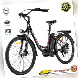 E-BIKE Elektrofahrrad 26'' Mountainbike Retro Pedelec 350W Citybike 7 Gang Bike