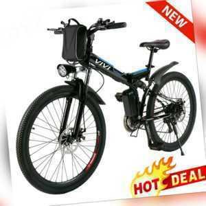 Vivi Elektrofahrrad Flat E-bike 26''Mountainbike E-Fahrrad Citybike 21Gänge 36V
