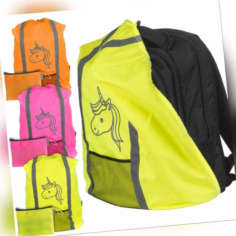 Regenschutz für Schulranzen Rucksack Schutzhülle Reflektor Überzug Hülle Unicorn
