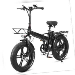 Faltbares Elektrofahrrad Fatbike E-bike E-Faltrad 750W 15Ah Akku 20Zoll 45km/h