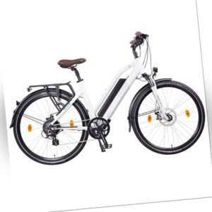 """NCM Milano 26"""" - 28"""" Trekking Urban E-Bike 48V 13Ah 624Wh Akku weiß schwarz"""